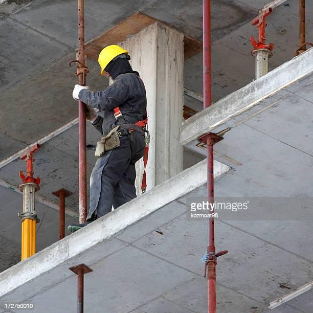 Kaltes Wetter Bauarbeiter