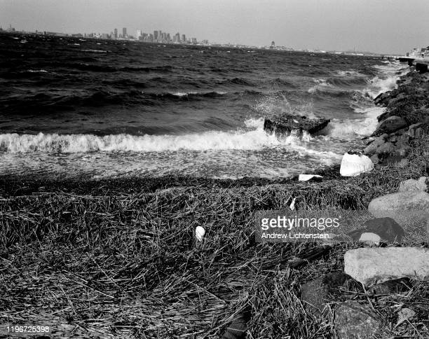 Cold wind blows waves onto Deer Island in 2011 in Winthrop, Massachusetts. By the 1670s enough indigenous people had converted to Christianity to...