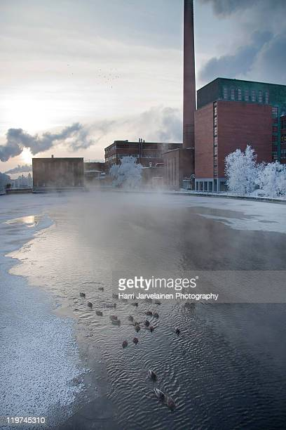 Cold winter day in Tampere, Finland