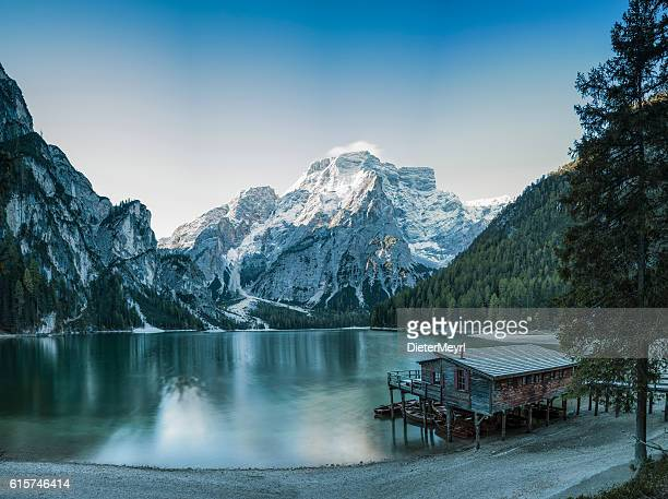 Cold Winter Morning at UNESCO World Heritage Lake Braies