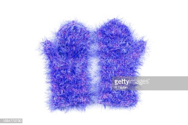 cold winter season wool clothing human hand mitten - sports glove stock pictures, royalty-free photos & images