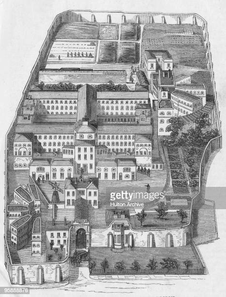 Coldbath Fields Prison in London circa 1850