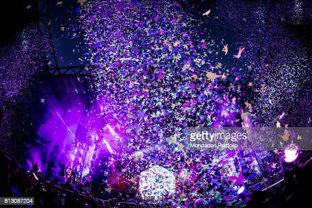 Coldplay in concert at San Siro Stadium during the Head Full of Dreams Tour. Milan, Italy. 3rd July 2017