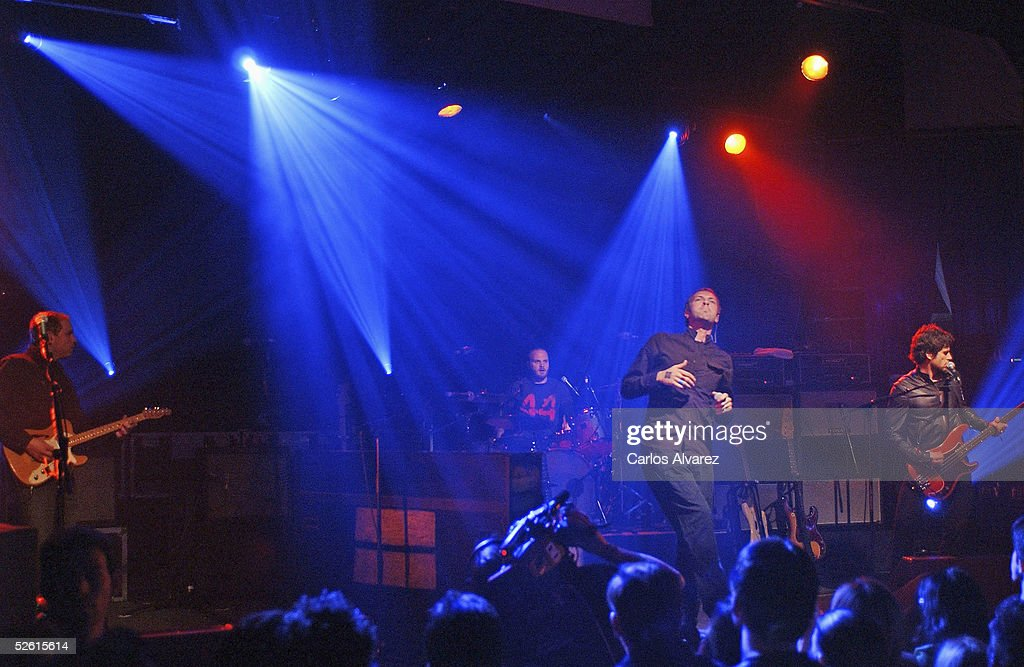 Coldplay perform on stage presenting their new album 'X&Y' at the