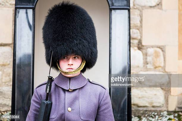 Coldstream Guard at the Tower of London, England