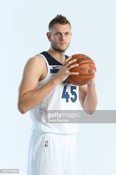 Cole Aldrich of the Minnesota Timberwolves poses for portraits during the 2017 Media Day on September 22 2017 at the Minnesota Timberwolves and Lynx...