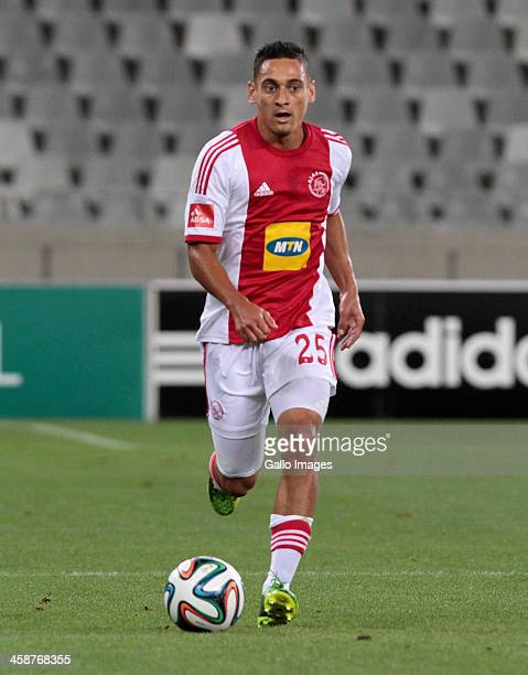Cole Alexander of Ajax during the Absa Premiership match between Ajax Cape Town and Platinum Stars at Cape Town Stadium on December 21, 2013 in Cape...