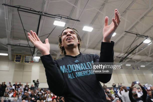 Cole Anthony attends the 2019 Powerade Jam Fest on March 25 2019 in Marietta Georgia