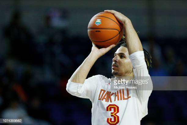 Cole Anthony of Oak Hill Academy shoots against Riverview High School during the City of Palms Classic at Suncoast Credit Union Arena on December 17...