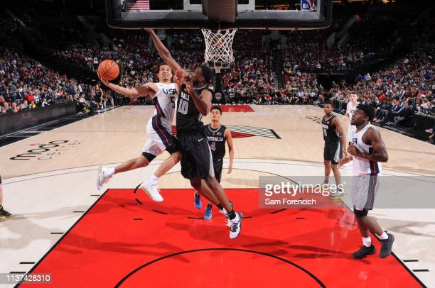 Cole Anthony of USA Team shoots the ball against the World Team on April 12 2019 at the Moda Center Arena in Portland Oregon NOTE TO USER User...