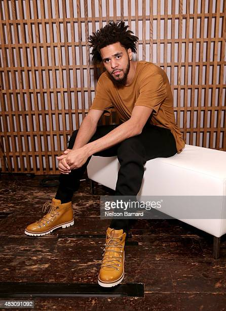 J Cole attends BALLY's 'Off the Grid' New York Premiere on August 5 2015 in New York City