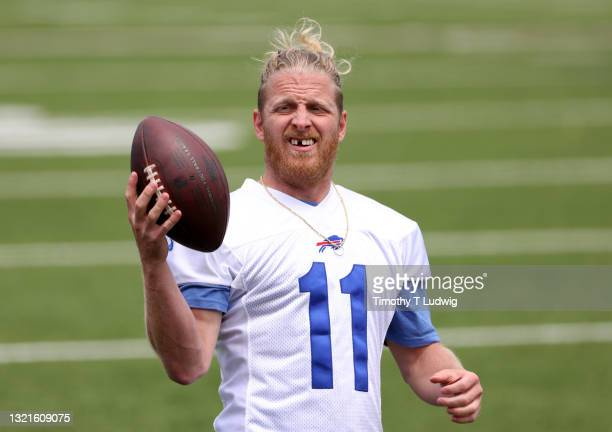 Cole Beasley of the Buffalo Bills during OTA workouts at Highmark Stadium on June 2, 2021 in Orchard Park, New York.