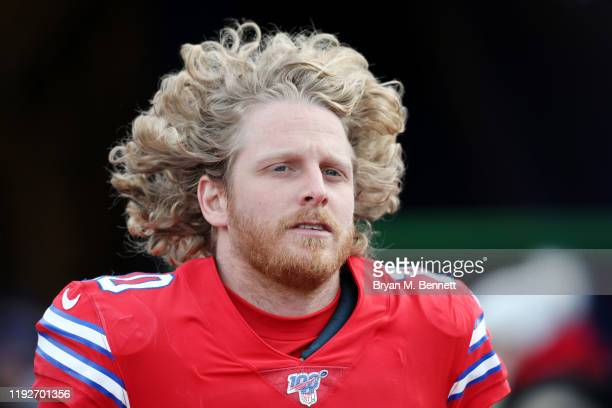 Cole Beasley of the Buffalo Bills looks on before the game against the Baltimore Ravens at New Era Field on December 08, 2019 in Orchard Park, New...
