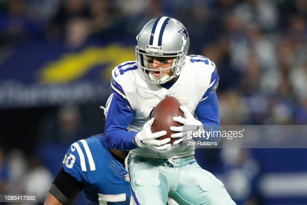 Cole Beasley of the Dallas Cowboys catches a pass in the game against the Indianapolis Colts in the second quarter at Lucas Oil Stadium on December...
