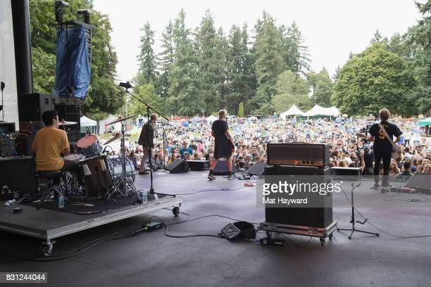 Cole Becker of SWMRS performs on stage during the Summer Camp Music Festival hosted by 1077 The End at Marymoor Park on August 13 2017 in Redmond...