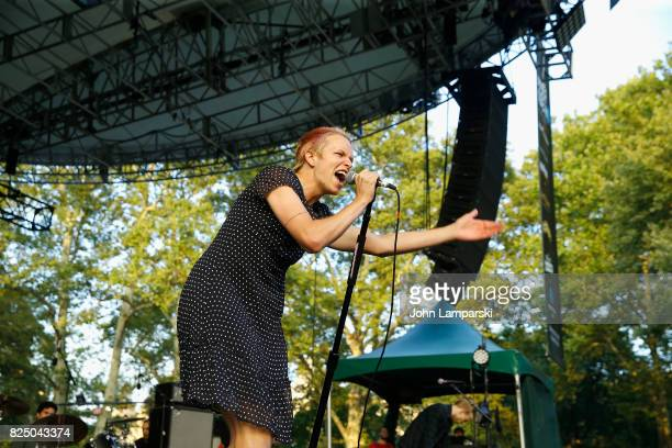 Cole Becker of the SWMRS performs in concert in New York New York at Central Park SummerStage on July 31 2017 in New York City