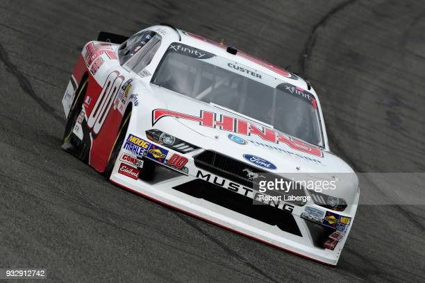 Cole Custer driver of the Haas Automation Ford drives during practice for the NASCAR Xfinity Series Roseanne 300 at Auto Club Speedway on March 16...