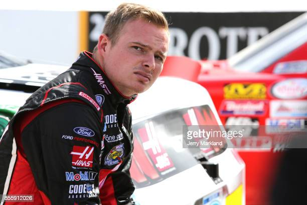 Cole Custer driver of the Haas Automation Ford looks on during qualifying for the NASCAR XFINITY Series 'Use Your Melon Drive Sober 200' at Dover...