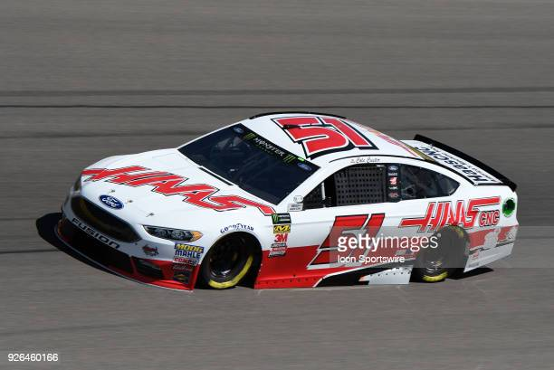 Cole Custer Rick Ware Racing Chevrolet Camaro ZL1 drives through turn four during practice for the Monster Energy NASCAR Cup Series 21st Annual...