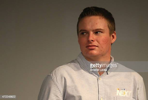 Cole Custer watches on as he is announced during the 20152016 NASCAR Next Class at NASCAR Hall of Fame on May 5 2015 in Charlotte North Carolina