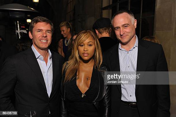 Cole Haan CEO Jim Seuss, Eve and Cole Haan CMO Michael Capiraso attend the Cole Haan Dinner for Maria Sharapova at Chateau Marmont on April 7, 2009...
