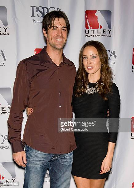 Cole Hamels of the Philadelphia Phillies and Jennifer Utley attend the 3rd Annual Utley AllStars Animal Casino Night to benefit the Pennsylvania SPCA...