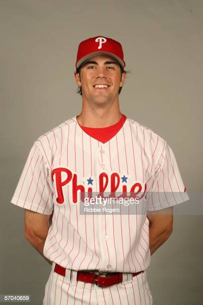 Cole Hamels of the Philadelphia Phillies during photo day at Bright House Networks Field on February 23 2006 in Clearwater Florida