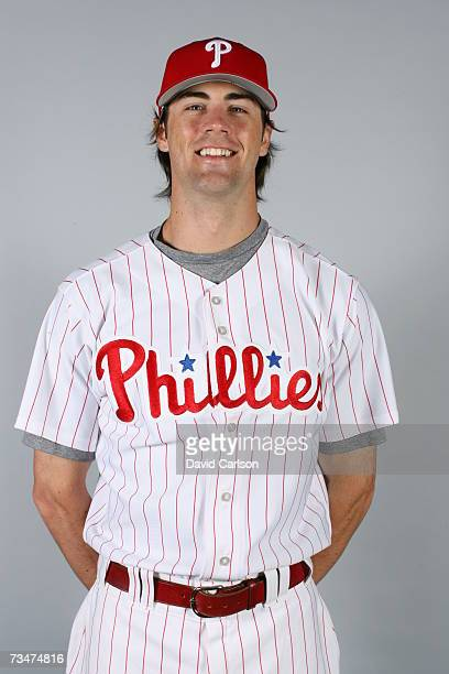 Cole Hamels of the Philadelphia Phillies poses during photo day at Bright House Networks Field on February 24 2007 in Clearwater Florida
