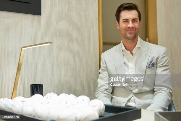 Cole Hamels poses for a photo at the David Yurman shop at NorthPark Center on May 9 2018 in Dallas Texas