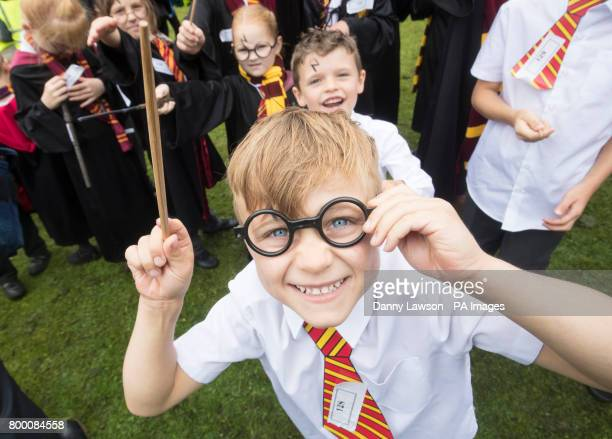 Cole Harris dressed as Harry Potter at Smithills Hall in Bolton before an attempt to break the Guinness World Record for the Largest Gathering of...