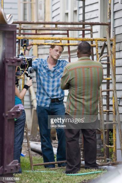 Cole Hauser and Anthony Anderson during Anthony Anderson and Cole Hauser on Location for KVille April 1 2007 at MidCity in New Orleans Louisiana...