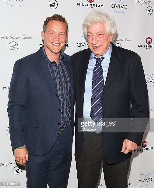 Cole Hauser and Avi Lerner attend A Gala to honor Avi Lerner and Millennium Films at The Beverly Hills Hotel on April 16 2016 in Beverly Hills...