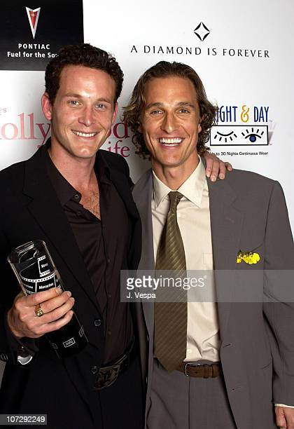 Cole Hauser and Matthew McConaughey during AMC Movieline's Hollywood Life Magazine's Young Hollywood Awards Portrait Gallery at El Rey Theatre in Los...
