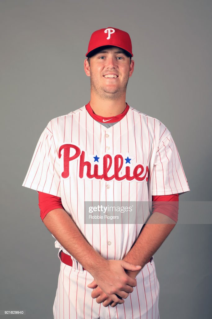 Cole Irvin #74 of the Philadelphia Phillies poses during Photo Day on Tuesday, February 20, 2018 at Spectrum Field in Clearwater, Florida.