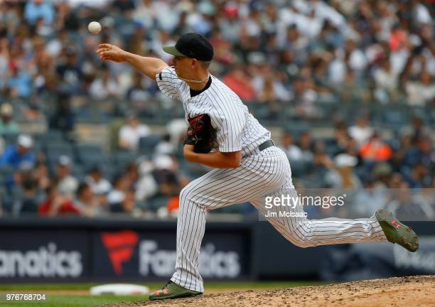AJ Cole of the New York Yankees in action against the Houston Astros at Yankee Stadium on May 28 2018 in the Bronx borough of New York City The...