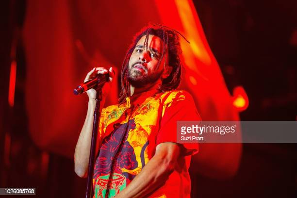 J Cole performs at Bumbershoot at Seattle Center on September 1 2018 in Seattle Washington