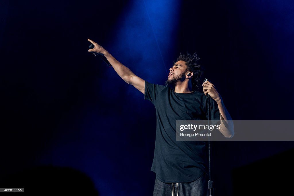 J. Cole performs during 2015 OVO Fest at Molson Canadian Amphitheatre on August 2, 2015 in Toronto, Canada.