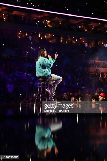 J Cole Performs during the 2019 NBA AllStar Game on February 17 2019 at the Spectrum Center in Charlotte North Carolina NOTE TO USER User expressly...
