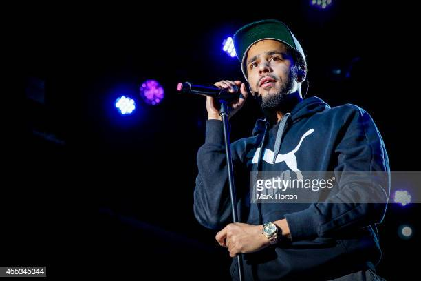 J Cole performs on Day 3 of the Ottawa Folk Festival on September 12 2014 in Ottawa Canada