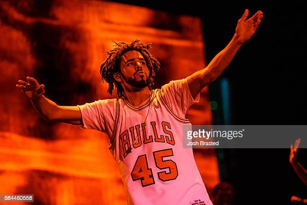 J Cole performs on day one of Lollapalooza 2016 at Grant Park on July 28 2016 in Chicago Illinois