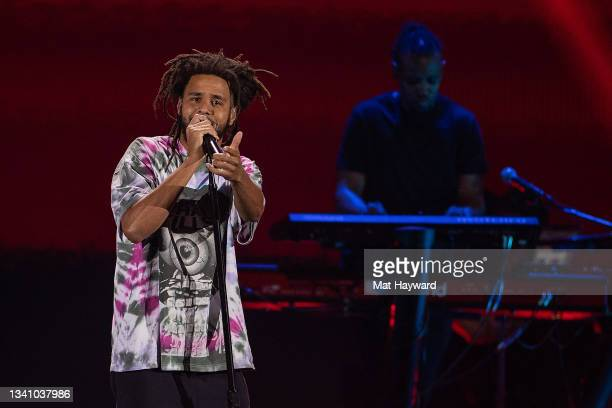 Cole performs on stage during the iHeartRadio Music Festival at T-Mobile Arena on September 17, 2021 in Las Vegas, Nevada.