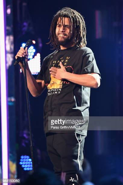 J Cole performs onstage at the 2018 BET Awards at Microsoft Theater on June 24 2018 in Los Angeles California