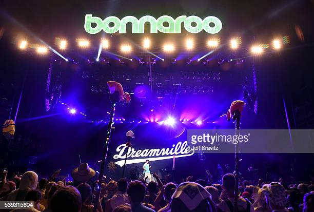 J Cole performs onstage at What Stage during Day 2 of the 2016 Bonnaroo Arts And Music Festival on June 9 2016 in Manchester Tennessee