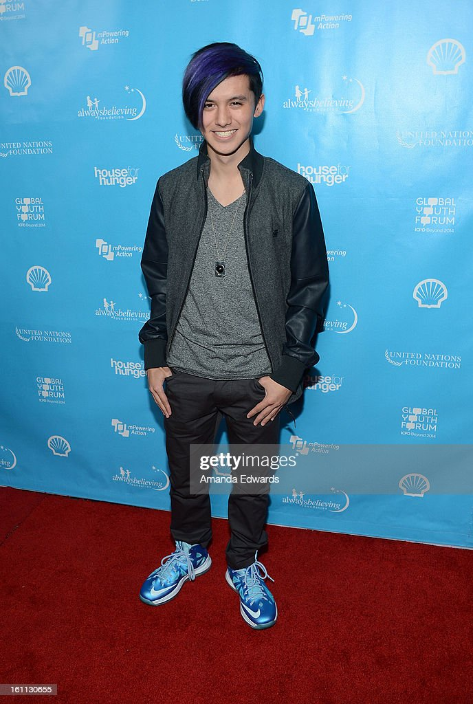 DJ Cole Plante arrives at the United Nations Foundation's 'mPowering Action' Innovative Mobile Platform launch party at The Conga Room at L.A. Live on February 8, 2013 in Los Angeles, California.
