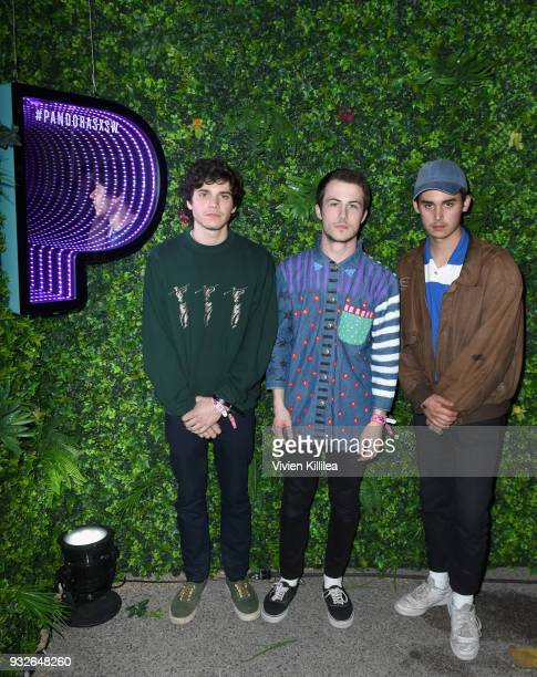 Cole Preston Dylan Minnette and Braeden Lamasters of Wallows attend Pandora SXSW 2018 on March 15 2018 in Austin Texas