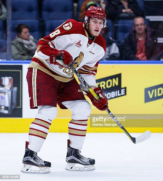 Cole Rafuse of the Acadie-Bathurst Titan skates during his QMJHL hockey game at the Centre Videotron on November 9, 2016 in Quebec City, Quebec,...