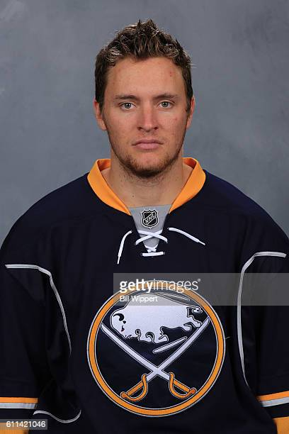 Cole Schneider of the Buffalo Sabres poses for his official headshot of the 20162017 season on September 22 2016 at the KeyBank Center in Buffalo New...