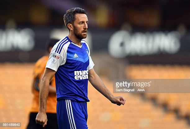 Cole Skuse of Ipswich Town during the Sky Bet Championship match between Wolverhampton Wanderers v Ipswich Town at Molineux on August 16 2016 in...