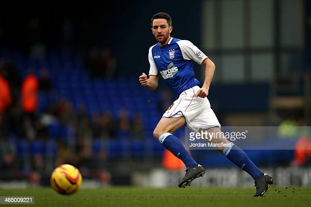 Cole Skuse of Ipswich Town in action during the Sky Bet Championship match between Ipswich Town and Reading at Portman Road on January 25 2014 in...