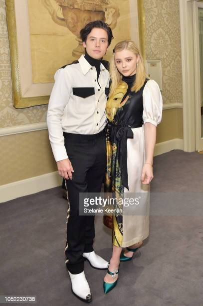Cole Sprouse and Chloe Grace Moretz attend ELLE's 25th Annual Women In Hollywood Celebration presented by L'Oreal Paris Hearts On Fire and CALVIN...